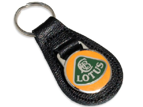 Lotus Leather Key Fob