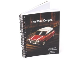 Vintage Ad Gallery Notebook Mini Cooper 1989